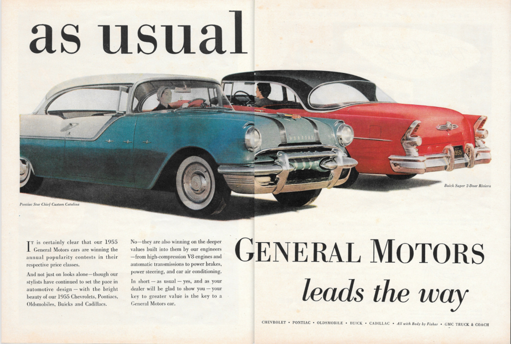 General Motors leads the way as usual